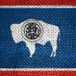 Wyoming Flag — Stock Photo