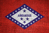 Arkansas state flag — Stock Photo