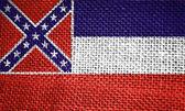 Mississippi state flag — Fotografia Stock
