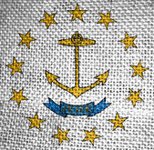 Rhode island state flag — Stock Photo