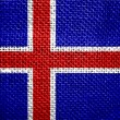 Flag of iceland — Stock Photo #11801145