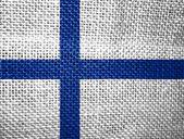 Finská vlajka — Stock fotografie