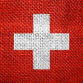 Bandera de suiza — Foto de Stock