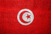 Tuniská vlajka — Stock fotografie