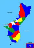グアム地図 — ストック写真