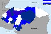 Honduras map — Stock Photo