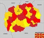 Mapa de macedonia — Foto de Stock