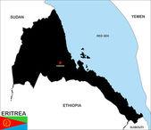 Mapa de eritrea — Foto de Stock