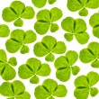 Background with four element clover leaves — Stock Photo