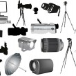 Royalty-Free Stock Vector Image: Set of photo and video equipment