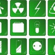 Set of green energy related icons — Stock Vector