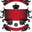 Red strips with black crown - Stockvectorbeeld