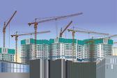 Light green house building — Stock Vector
