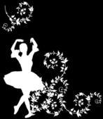 Ballet dancer in white plant curls — Stock Vector