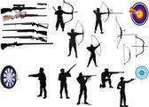 Conjunto de hombres con arma blanca — Vector de stock
