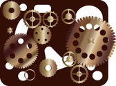 Brown gears illustration — Vettoriale Stock