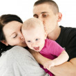 Family with they baby — Stock Photo