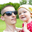 Baby With Father On Picnic — Stock Photo #11834638