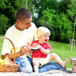 Baby With Father On Picnic — Stock Photo