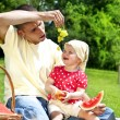 Baby With Father On Picnic — Stock Photo #11835263
