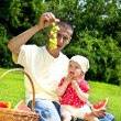 Baby With Father On Picnic — Stock Photo #11835269