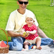 Baby With Father On Picnic — Stock Photo #11835274