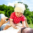 Father Play With Baby Girl — Stock Photo