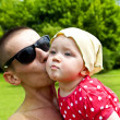 Father kissing His Baby — Stock Photo