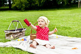 Baby Caling By The Mobilephone — Stockfoto