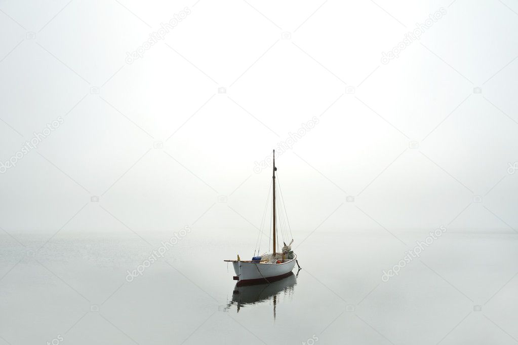Boat on water near the coast — Stock Photo #11952760