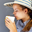 Woman With Coffee Cup — Stock Photo #12346471