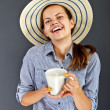 Woman With Coffee Cup — Photo