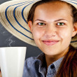 Woman With Coffee Cup - Foto Stock