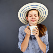 Stock Photo: WomWith Coffee Cup