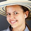 Teenager Girl Listing Music — Stock Photo #12346630