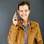 Teenager Girl Call — Stock Photo