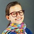 Teenager Girl With Glasses — Stockfoto