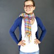 Teenager Girl with glasses — Stock Photo