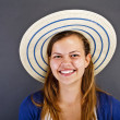 Woman With Hat — Stock Photo