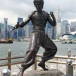 Bruce Lee monument — Stock Photo