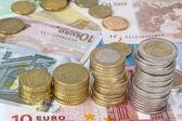 Monety euro — Zdjęcie stockowe