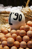 Eggs in the market — Stock Photo