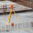 Equipment theodolite tool at construction site — Lizenzfreies Foto