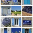Bleu de Provence collage - Foto Stock