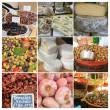 Provence market collage - Foto Stock