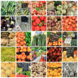 Fruit and vegetable collage - Stock Photo