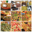 Olive collage - Foto de Stock  