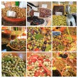 Olive collage - Foto Stock