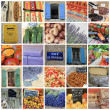 Provence collage - Foto Stock