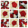 Red and white rose collage — Stock Photo #10935710